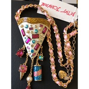 Betsey Johnson Big Ice Cream Cone Drop Necklace